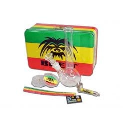 Breit Mini Bong Set with Grinder and Pure Pipe